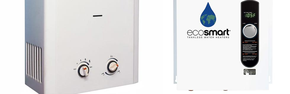 gas and electric tankless water heaters
