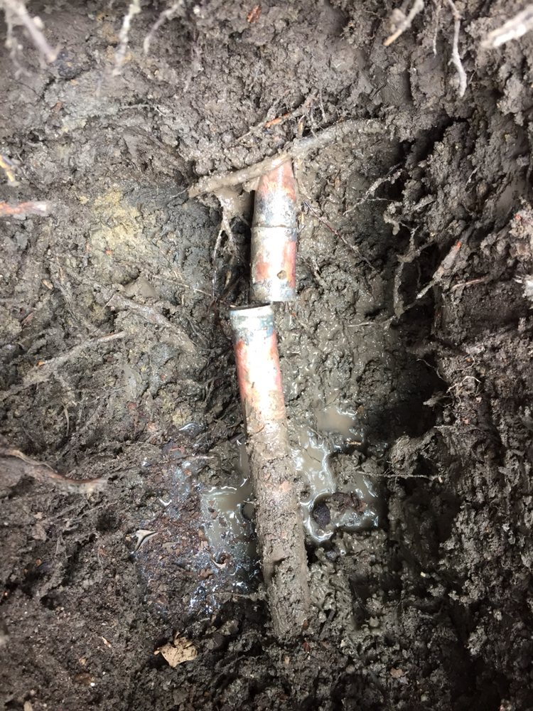 broken copper pipe leak detection and repair in concord