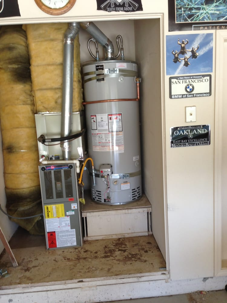 professionally installed american standard brand residential water heater in lafayette, ca