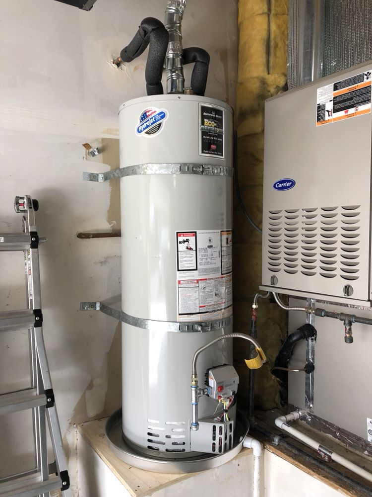 residential 50 gallon water heater installed in alamo