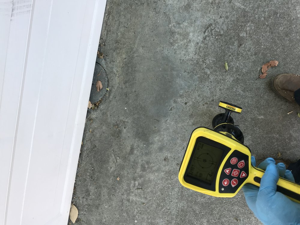 water leak detection scanning tool used to locate leak under concrete